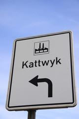 Kattwyk - Schild