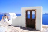 Beautiful architecture in the village of Oia, Santorini, Greece