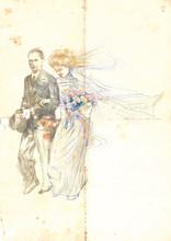 Hochzeitsmarsch, Braut und Bräutigam