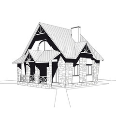 Small country house - sketch