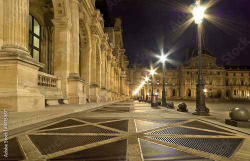 Fototapeten,paris,frankreich,nacht,louvres