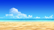 Idyllic tropical sand beach background. - 44155848