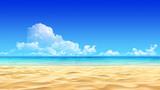 Fototapety Idyllic tropical sand beach background.