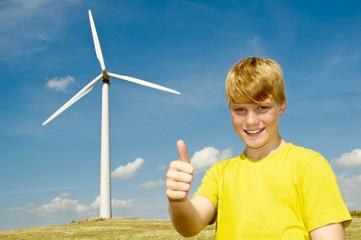 Daumen hoch zur Windenergie
