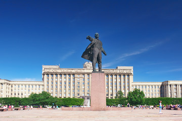 Square  and statue of Lenin,Saint Petersburg, Russia