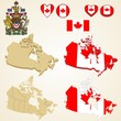 Canada Map blank and regional, Vector 3D pack