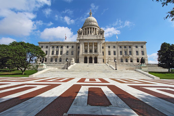 The Rhode Island State House on Capitol Hill in Providence