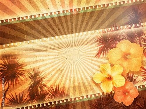 tropical movie background