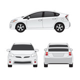 Fototapety Medium size city car vector illustration