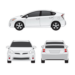 Medium size city car vector illustration
