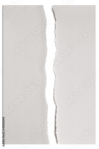 Torn White Paper over White with Shadow