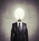 man  lamp-head