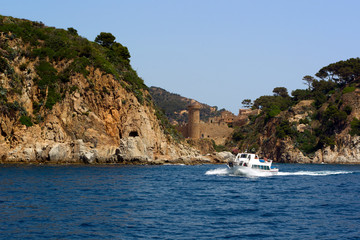 Fortress in Tossa de Mar, Spain