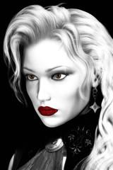 Artistic Illustration of Beautiful Woman