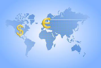 waluta i kontynenty