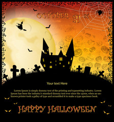 Halloween vector party invitation