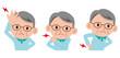 シニア男性 頭痛 腰痛 肩こり