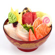Sashimi with rice