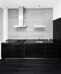 Part of modern minimalism style kitchen interior