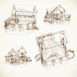 Set of Architectural Icons. Vector background