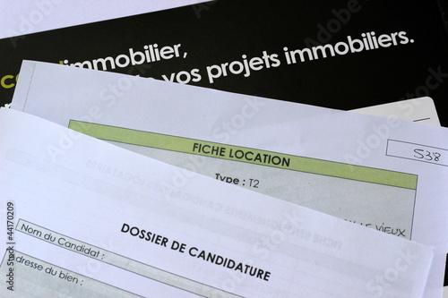 Dossier de candidature pour la location photo libre de droits sur - Dossier candidature location ...