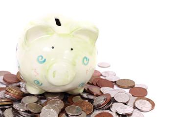 coin bank and czech money