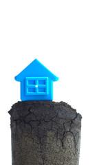 家と地盤のイメージ