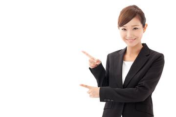 asian businesswoman showing