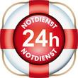 Button 24 Notdienst Rettungsring