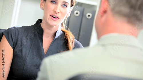 Businessman Meeting Financial Advisor