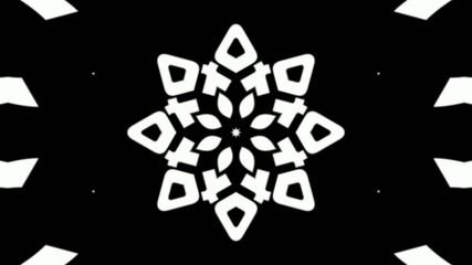 kaleidoscope b&w graphic pattern loop