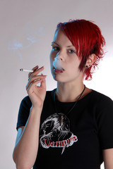 smoking teenager