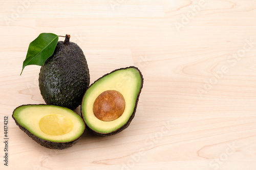 Ripe Organic Avocado with copy space