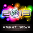 2013 light explosion - New Year's disco and event flyer template