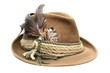 hunting hat over white