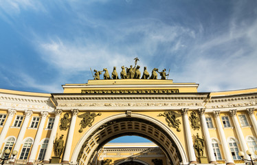 Arches of the General Staff building, St. Petersburg, Russia