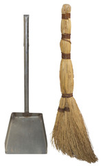 Natural broom and dustpan