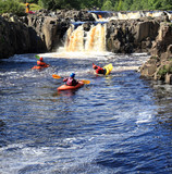 people on the river low force uk poster