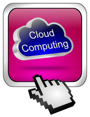 Button Cloud Computing mit Cursor