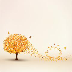 Herbstbaum Vektor Hintergrund