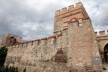 The Wall of Istanbul in Silivrikapi.