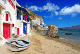 Traditional Greece scenery - Milos island. small fishing village
