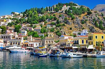 pictorial small greek ports- Symi island