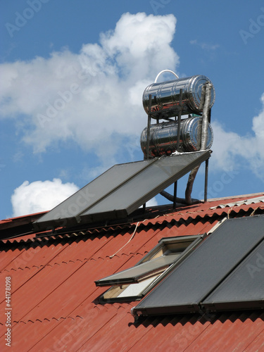 Solar heater on the roof