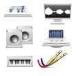 music and sound equipment vector icons set