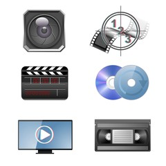 video vector icon set