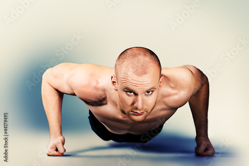 push-ups on the floor