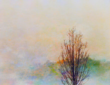 Hösten landskap målning