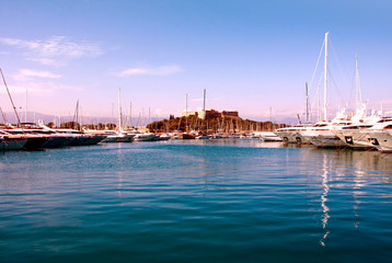 The harbor Antibes, France
