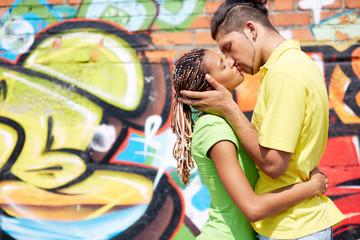 Sharing kiss